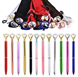 12PCS Crystal Diamond Pen Bling Bling Metal Ballpoint Pen for School Office 12 Different Colors With 12 Gift Bags