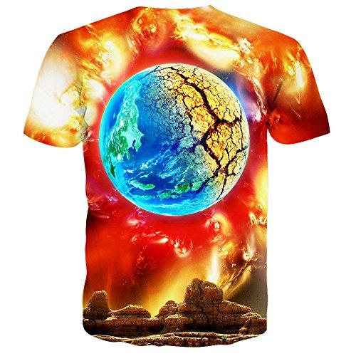 T 3d À shirts Pattern Courtes Style Unisexe Laidipas 30 Imprimé Manches BxR0RqFH