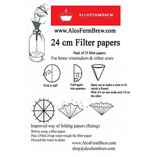 filter paper 24cm filtration filters papers home brew strainer
