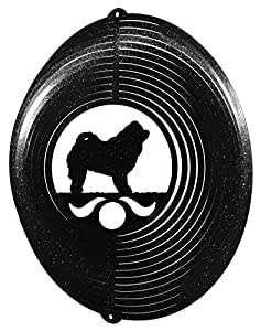 CHOW CHOW Circle Swirly Metal Wind Spinner