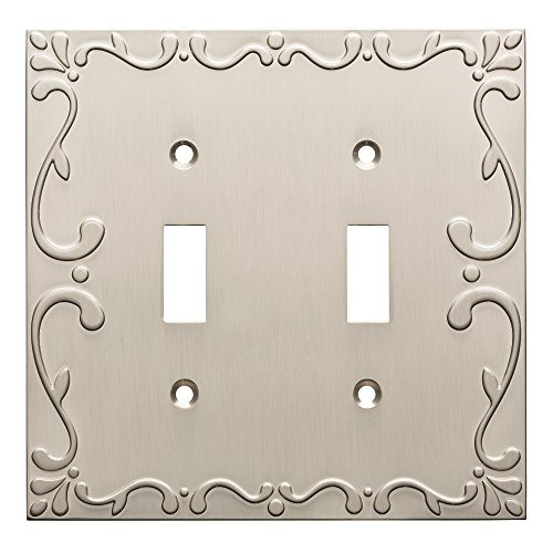 Franklin Brass W35073-SN-C Classic Lace Double Switch Wall Plate/Switch Plate/Cover, Satin Nickel by Franklin Brass