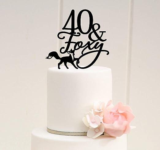 Decoración para tarta de 40 cumpleaños con texto en inglés ...