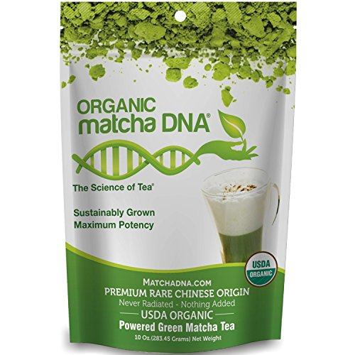 (matchaDNA Organic Powdered Matcha Green Tea, 10 Ounce)