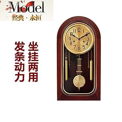 Y-Hui Base mecánica de Latón Sólido Polaris Salón Reloj Reloj de Pared Reloj de Péndulo en el Town House, Feng Shui Relojes Antiguos: Amazon.es: Hogar