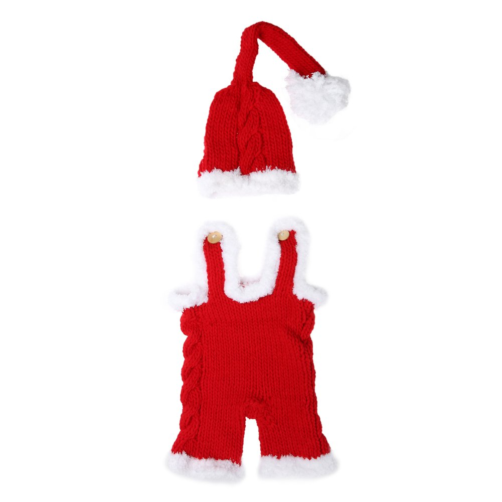 Newborn Baby Infant Xmas Crochet Knit Costume Hat Rompers Photography Props Iainstars
