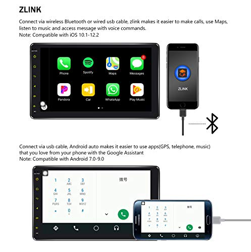 JOYING Car Head Unit Android 8 1 4GB + 64GB 8 inch Double Din LCD  Touchscreen Support 4G SIM Card (Not  Include)/Bluetooth/WiFi/DSP/SPDIF/Android