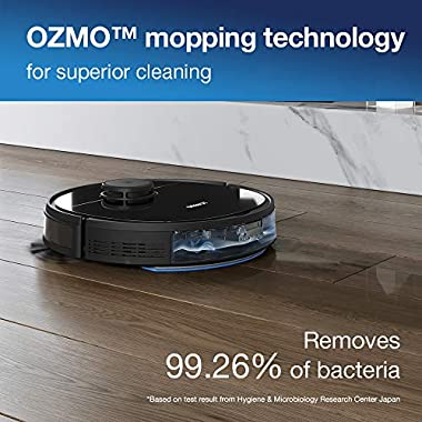 Ecovacs DEEBOT OZMO 950 Robotic Vacuum Cleaner 2-in-1 Vacuuming & Mopping with Smart Navi 3.0 Laser Technology Custom Cleaning Multi-Floor Mapping Virtual Wall Works on Carpets & Hard Floors 9