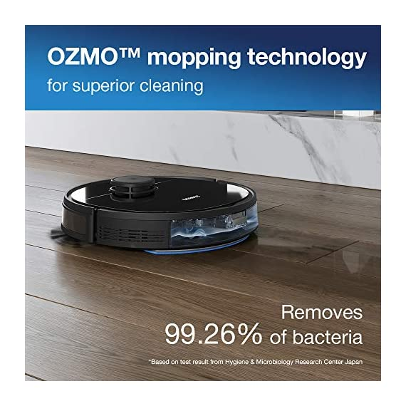 Ecovacs DEEBOT OZMO 950 Robotic Vacuum Cleaner 2-in-1 Vacuuming & Mopping with Smart Navi 3.0 Laser Technology Custom Cleaning Multi-Floor Mapping Virtual Wall Works on Carpets & Hard Floors 3