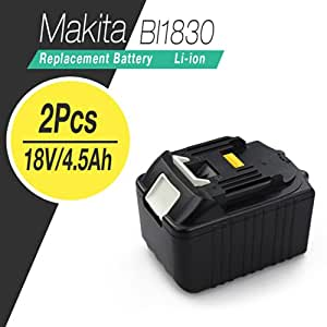 flylinktech makita bl1830 18 volt 4500mah replacement lithium ion battery for makita 18v. Black Bedroom Furniture Sets. Home Design Ideas