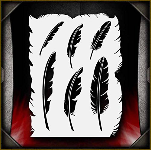 Feathers AirSick Airbrush Stencil Template ()