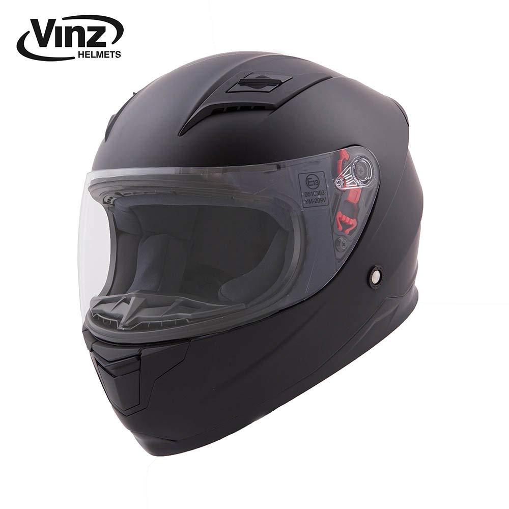 Vinz Kinder Integralhelm//Rollerhelm Basic Integral Helm mit Visier XXXS , Matt Schwarz 47-48 cm Kinder Motorradhelm in Gr XXXS-XS