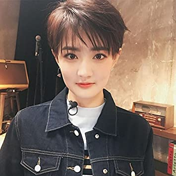 Amazon Girls With Short Hair Wig Fashion Online Red Short