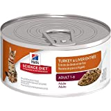 Hill's Science Diet Adult Turkey and Liver Entree Minced Cat Food, 5.5-Ounce Can, 24-Pack by Hill's Science Diet
