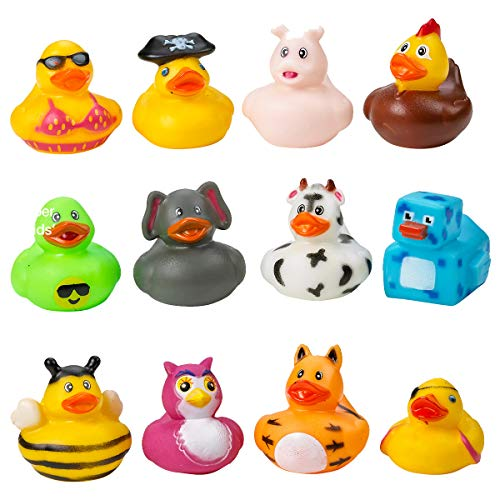 Kicko Assorted Rubber Duckies - 100 PC Bath Floater – Baby Showers Accessories – Bulk Ducks for Kids – Easter Party, Halloween Party Favors, Rubber Ducks Supplies and Favors by Kicko (Image #7)
