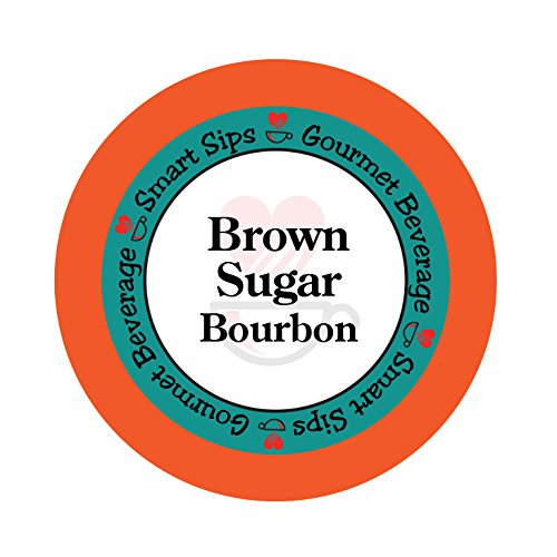 Smart Sips, Brown Sugar Bourbon Gourmet Flavored Coffee, 24 Count, Compatible With All Keurig K-cup (Butter Pecan Flavored Decaf Coffee)