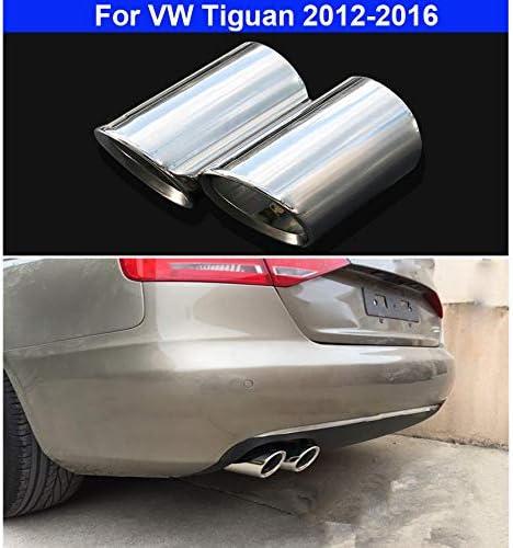 rong-car1 Lot de 2 Embouts d/échappement en Acier Inoxydable argent/é pour Tiguan 2012 2013 2014 2015 2016
