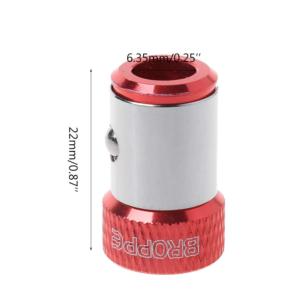 """Magnetic Ring 1//4/"""" 6.35mm Metal Strong Magnetizer Screw Electric Screwdriver Bit"""