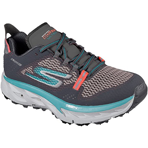 Skechers Mujeres Go Trail Ultra 4 Zapato De Entrenamiento Charcoal / Teal