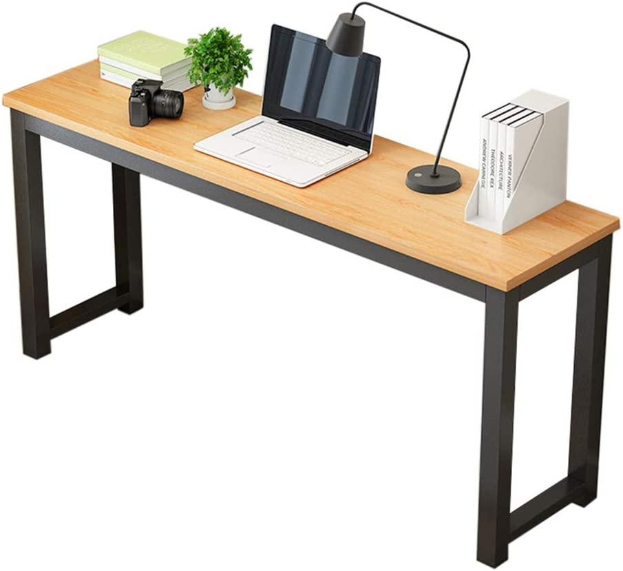 GOTDCO. Modern Side Table,Industrial Pub Bar Height Desk,Rectangle Kitchen Dining Table Vintage Computer Writing Desk Home Office Laptop Stand Narrow Console Table Sturdy Workstation (Yellow)