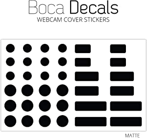 BocaDecals Web Cam Security Decal Sticker Cover Kit for Laptops, MacBook, iMac & Computer - Works Great to Block Unwanted Intrusion Through Webcam(36 Pack)