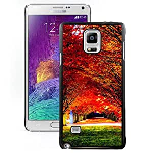 New Beautiful Custom Designed Cover Case For Samsung Galaxy Note 4 N910A N910T N910P N910V N910R4 With Nature Red Trees Road Phone Case