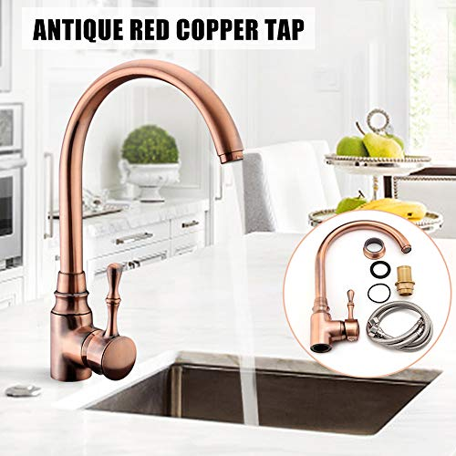 Mixer Tap Maserfaliw 1/2inch Kitchen Sink Tap Hot Cold Water Mixer Monobloc Basin Bronze Copper Faucet, Housewares, Offices, Outdoor, Holiday ()