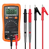 Neoteck Pocket Digital Multimeter 8233D PRO 2000 Counts Auto Ranging Digital Multimeters Digital Multi Tester-DC Current Resistance Diodes Transistor Audible Continuity Tester with Backlit LCD
