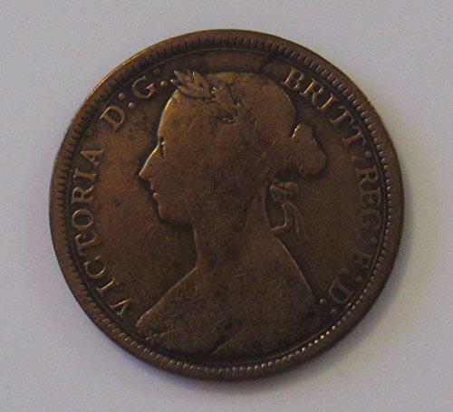 1890 UK Great Britain Half Penny 1/2c VG (Penny Half Rare)