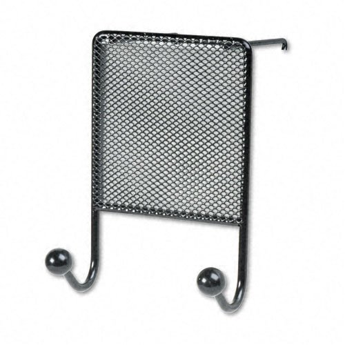 Fellowes Products - Fellowes - Mesh Partition Additions Double-Garment Hook, 4 1/2w x 6h, Black - Sold As 1 Each - Two hooks for clothing, umbrellas. - Partition mount only. - Contemporary mesh/wire design. - Contemporary mesh/wire design. - Two hooks for clothing, umbrellas. (Fellowes Partition Coat Hook Additions)