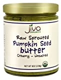 Jiva Organics RAW SPROUTED Organic Pumpkin Seed Butter 8-Ounce Jar (Pack of 6)