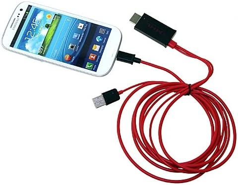SLLEA 2M MHL Micro USB to HDMI HDTV Adapter Cable for Samsung Galaxy Note i9220