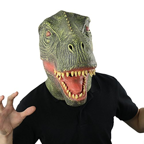 LarpGears Halloween Costume Mask Party Latex Animal T-rex
