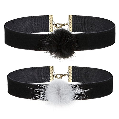BodyJ4You Choker Black Velvet Ribbon Gothic Collar Necklace Girls Classic