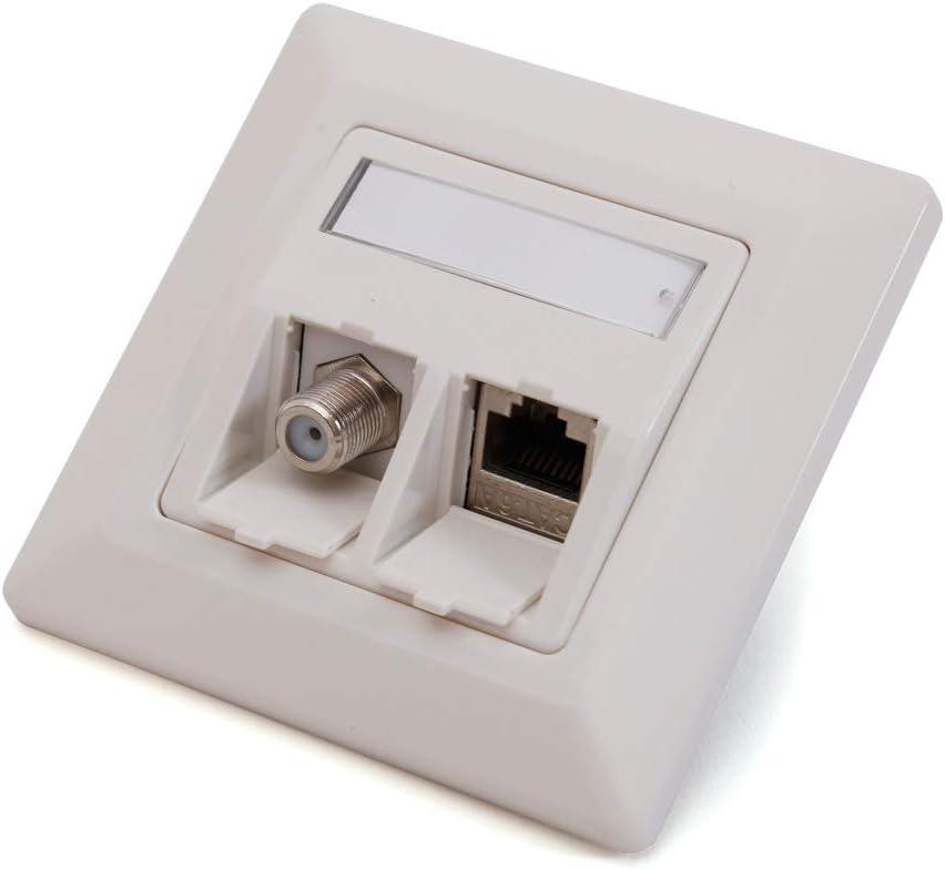 Logilink Set Keystone Unterputzdose Reinweiss 1 Modul Computer Zubehör