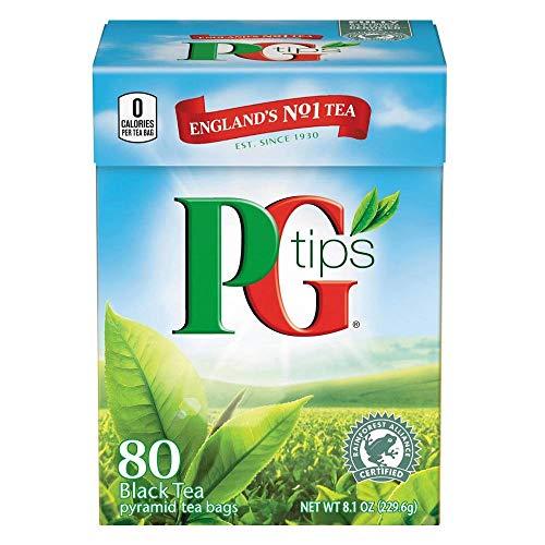 PG tips Black Tea, 80 Count Box 80pyramid tea bags( pack of 2) ()