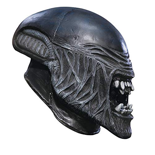 Fun Express - Alien Child Vinyl Mask for Halloween - Apparel Accessories - Costume Accessories - Masks - Halloween - 1 Piece
