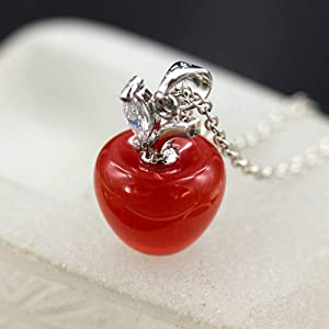 Acamifashion Women Opal Red Apple Shape Charm Pendant for Jewelry Making Necklace Bracelet Earring DIY Jewelry Accessories Charms