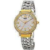 Burgi Women's BUR140YG Swarovski Crystal Filled Yellow Gold and Silver Bracelet Watch