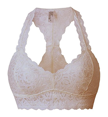 da8de305e7 Floral Lace Halter Bra Bralette Lace Racerback Unpadded Bustier Wireless  Breathable Crop Top Bras