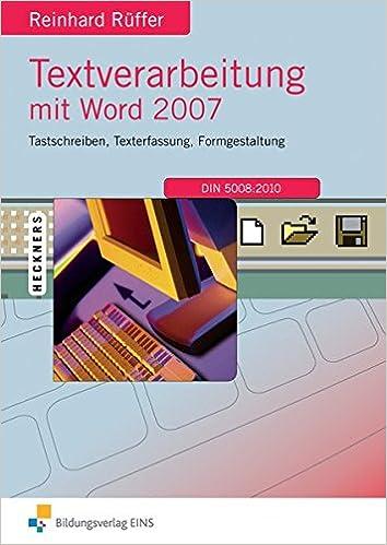textverarbeitung word 2007
