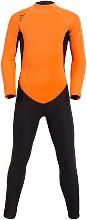 4fda3c77bf8 TianMai 2mm Neoprene Wetsuits Kids One Piece Full Body Swimsuit Warm  Surfing Suit for Scuba Diving