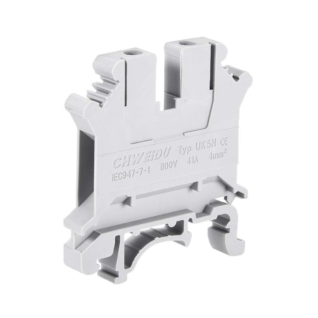 ZCHXD UK5N DIN Rail Terminal Block Screw Clamp Connector ...