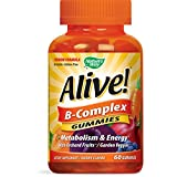 Nature's Way Alive! B-Complex Gummies, Food-Based Blend (150mg per serving), Gluten Free, Made with Pectin, 60 Gummies