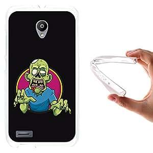 WoowCase - Funda Gel Flexible { Vodafone Smart Prime 6 } Zombie Verde Carcasa Case Silicona TPU Suave