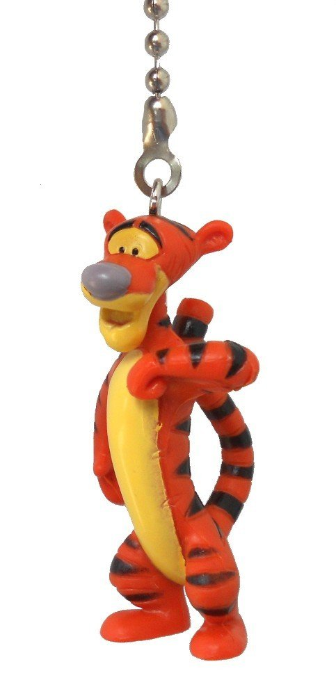 Disney Classic Disney movie Winnie The Pooh storybook assorted Character Ceiling FAN PULL light chain (Tigger) by Knight