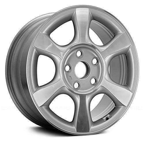 Replacement 16X6 Alloy Wheel 5 Double Spoke Silver w/Machined Face w/Hand Paint Fits Toyota Solara