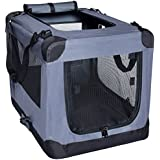 Arf Pets Folding Pet Carrier with Straps - 26 Inch