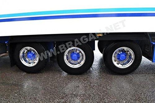 Volvo DAF Scania Man Iveco Truck Trailer S/S Tapacubos Cubiertas Funda aleación de X 6: Amazon.es: Coche y moto