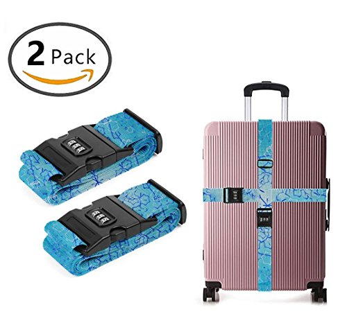 Delsey Black Camera Bag - YEAHSPACE blue trippy 2 Pack Luggage Straps Suitcase Adjustable Belt Travel Bag Accessories