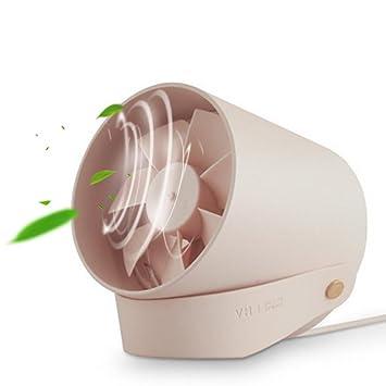 Pawaca Ventilador de escritorio USB portátil, mini ventilador de mesa con dos cuchillas turbo silencioso